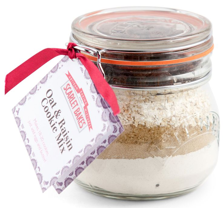 OAT & RAISIN COOKIE MIX by Scarlet Bakes Straight from a handy jar, just add some butter and eggs!