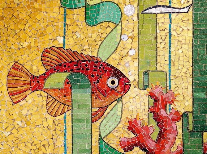 Isidore Odorico - mosaïque de la salle de bain de sa maison, rennes.