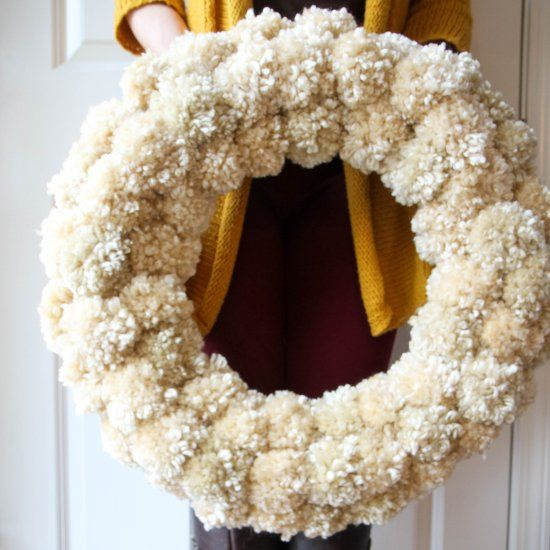 With just over $20 in supplies, you can have the perfect knock-off Anthropologie Pom-Pom Wreath to enjoy this winter season.