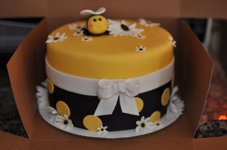 bumble bee cake -- Gracie's first birthday
