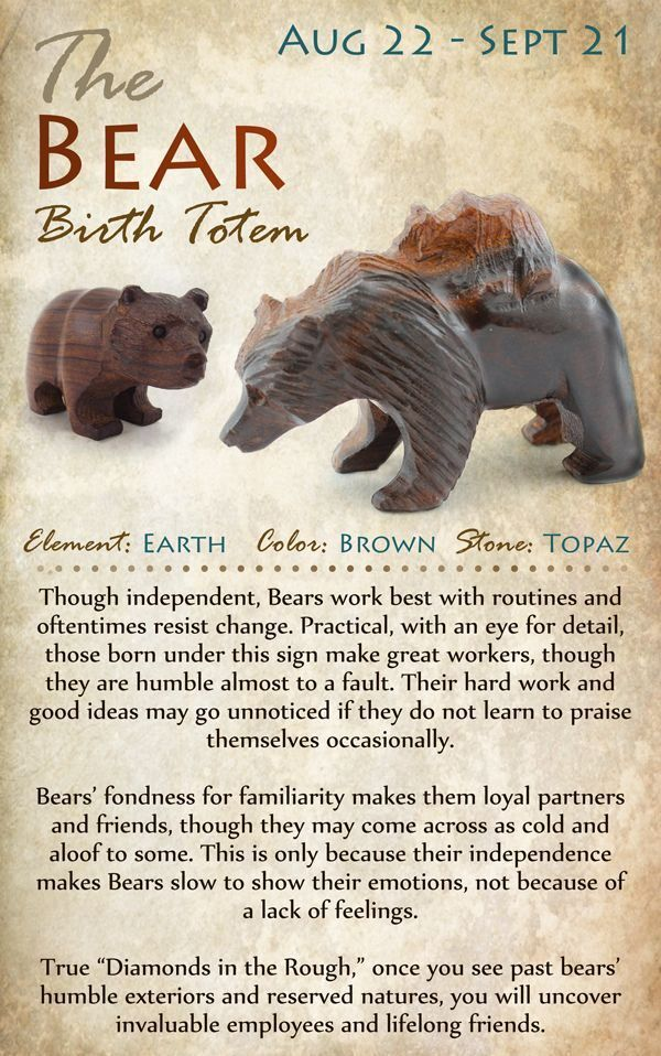 Kokopelli NH | The BEAR Birth Totem | August 22 - September 21