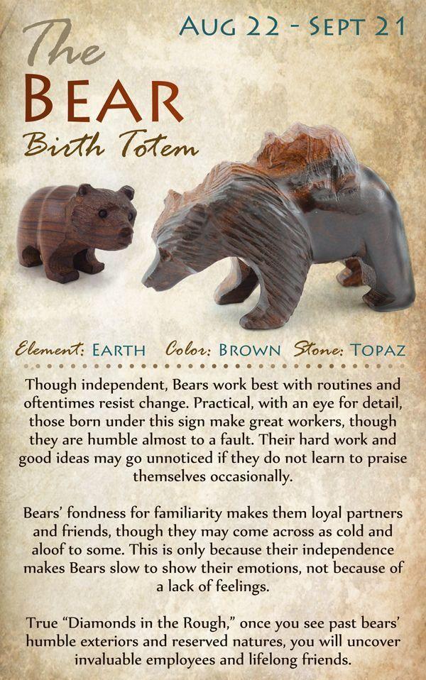 Kokopelli NH   The BEAR Birth Totem   August 22 - September 21