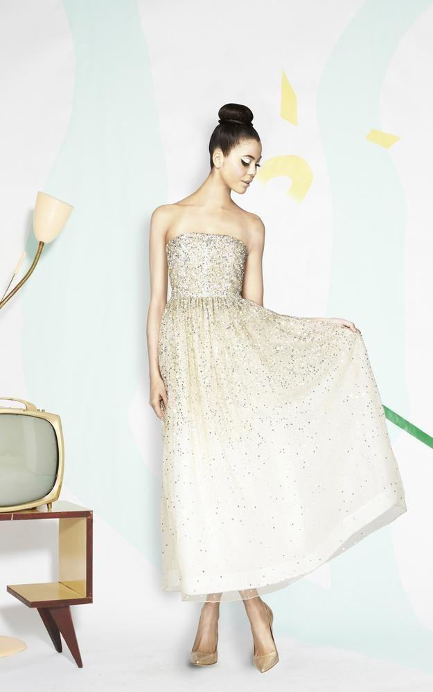 Alice + Olivia glittering gown