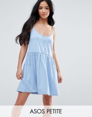 PETITE Cami Smock Dress with Button Placket