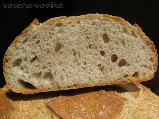 Хлеб швейцарский фермерский (пшеничный хлеб на изюмной закваске)