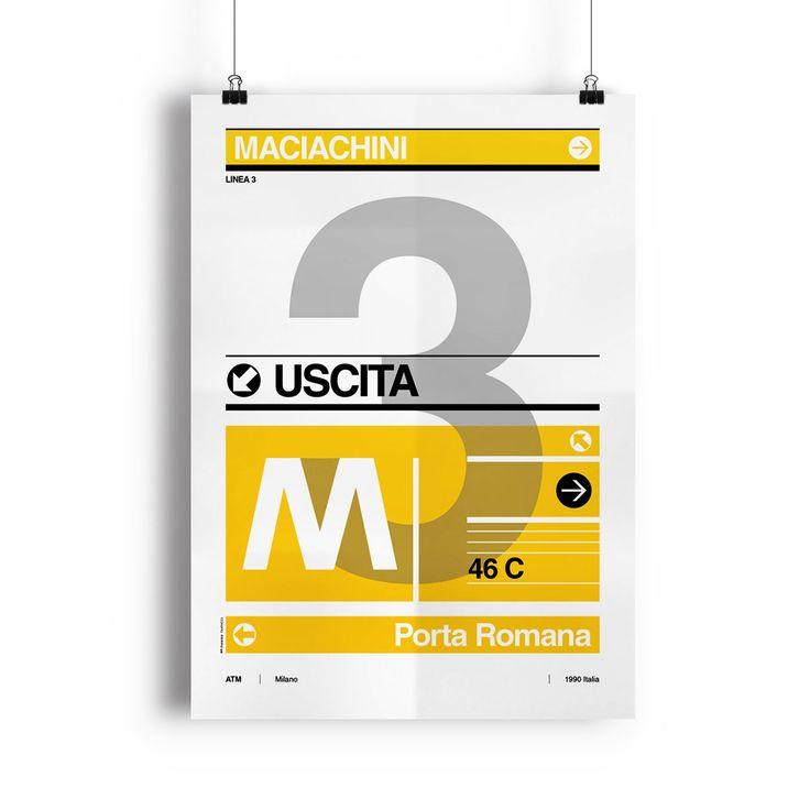 Articolo: ILKIOSKO3Poster iconografico della Linea 3 della serie Metro Milano. La cornice non è inclusa.
