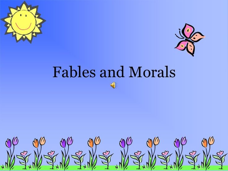 fables-and-morals-14724203 by Jan Price via Slideshare