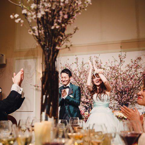 結婚式場写真「会場も桜のコンセプトのコーディネート」 【みんなのウェディング】