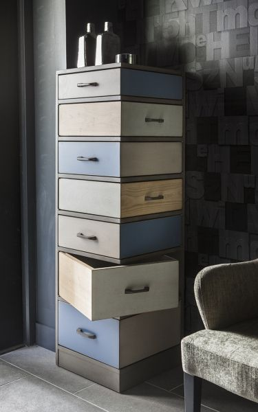 Côté Design Domino Chest of Drawers ( W 18 x H 57 x D 18 in )