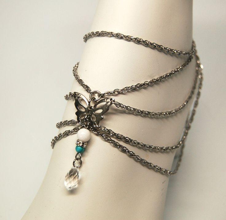 Bracelet cheville cristal bijoux cheville Multi-chaines chaine de pied élégante bijou chic bijou acier inoxydable par…