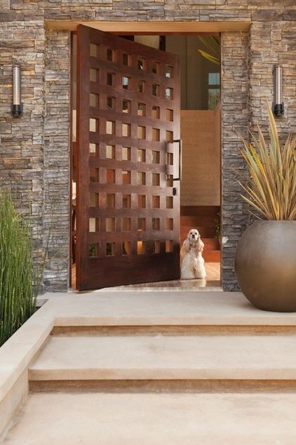 Expert Talk: Front Doors Hold Key to Great Style contemporary exterior by Michael Fullen Design Group.now that's a great door..