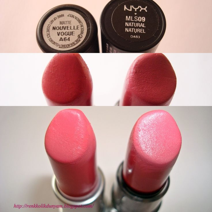 Mac 'Nouvelle Vogue' mat ruj __ NYX Mat Ruj No: 09 Natural
