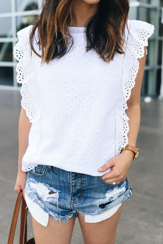 Moon River Eyelet top