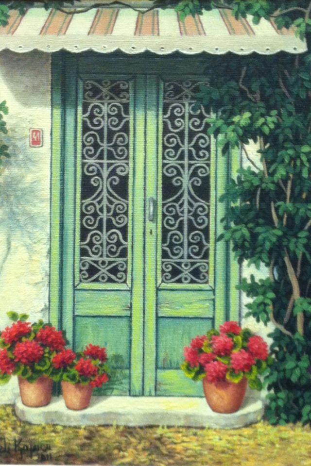 doors#flowers#windows // Turkish painter Günseli kapucu