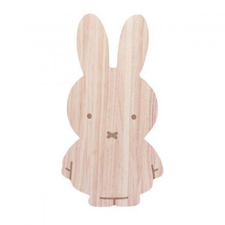 Hochwertiges Schneidebrett aus Holz in Form des Kult-Hasen Miffy