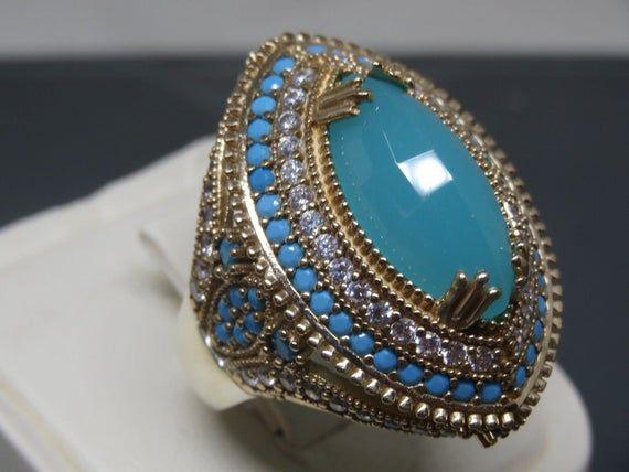 Turkish Handmade Jewelry 925 Sterling Silver Turquoise Stone Ladies/' Bangle