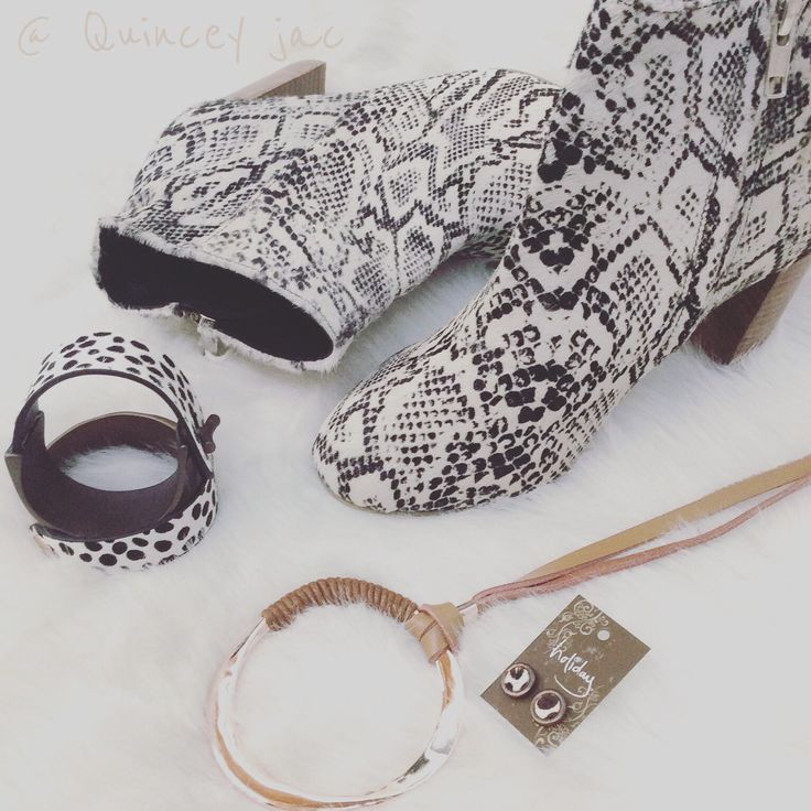 #fur #hide #boots #jewelry #animalprint #gifts #quinceyjac