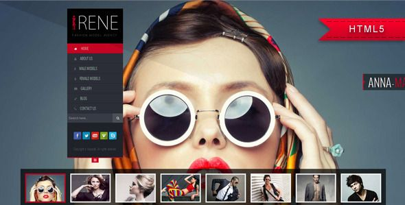 Irene - Model Agency Website Template