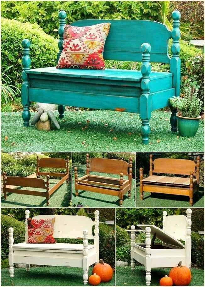 23 amazing ways to repurpose old furniture for your home decor bed bench headboard