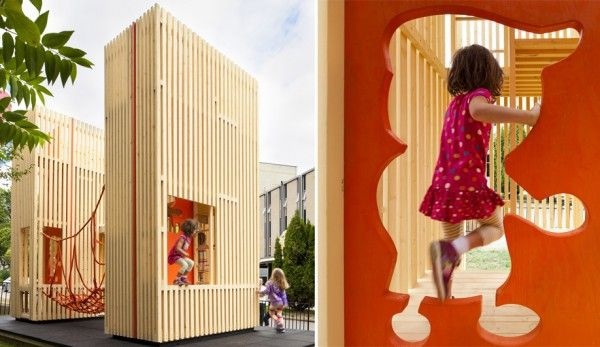 Playhouse Sam + Pam. A Very Cool Children's Building - Petit & Small