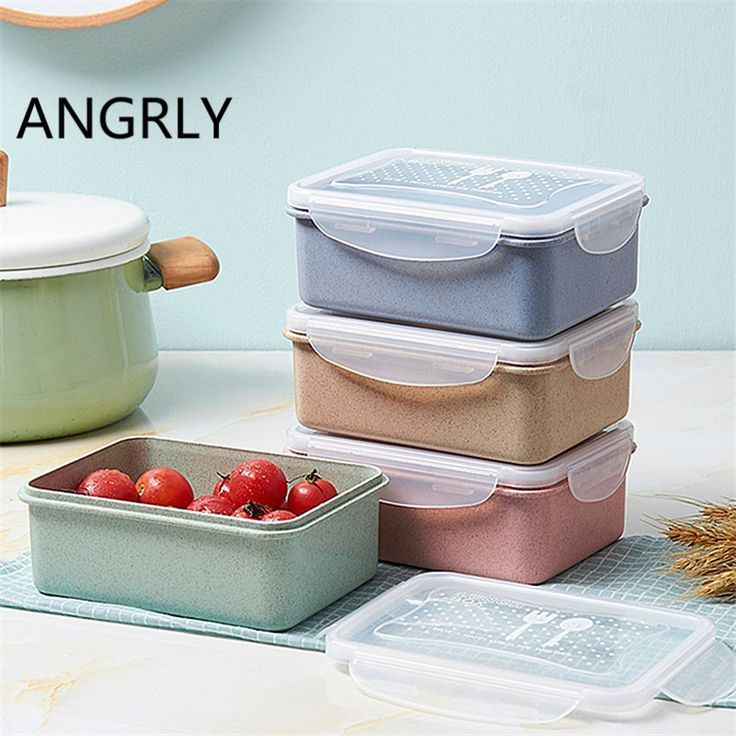 Kitchen Health environmental degradation Lunch Box Japanese-style microwave lunch boxes Student lunch boxes travel tableware +Z