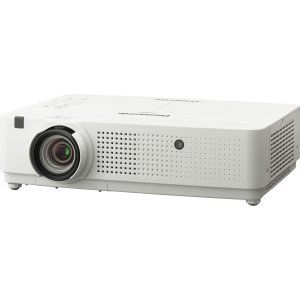 Panasonic PTVX400NTU LCD Projector by Panasonic. $1180.58. With a 1.6x zoom lens, HDMI input and auto keystone feature, installation, setup and operation is easy. This lightweight projector is a low 0.48W standby power consumption rating and is equipped with a wide array of features including a 10-watt speaker and microphone input for audio playback directly from the projector, a built-in closed caption decoder and a carrying bag with a handy shoulder strap. Users c...