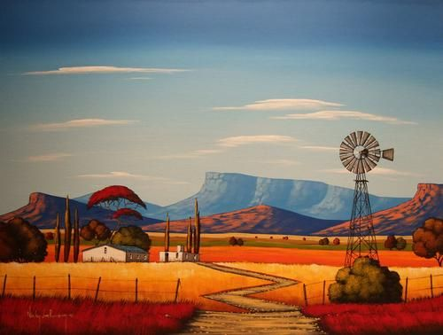Acrylics - Windmill.Original Painting by Nicky van Rensburg.1000x750mm!!!! was sold for R1,590.00 on 14 Mar at 23:46 by Nicky van Rensburg in Pretoria / Tshwane (ID:60691396)