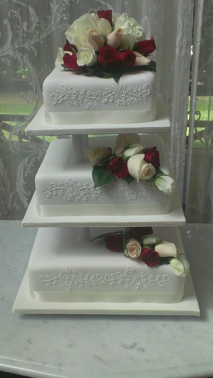 Three tier Vintage Wedding cake