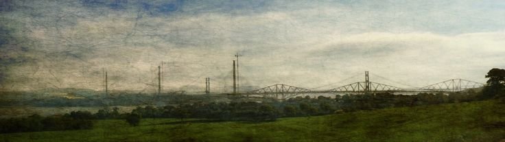 Three Bridges - The Old Forth Rail Bridge , the Forth Road Bridge and the brand New Forth Road Crossing Bridge due to be completed in 2017