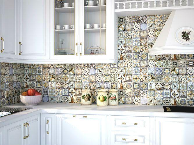 плитка на кухню бирюзовая с молочной - Поиск в Google