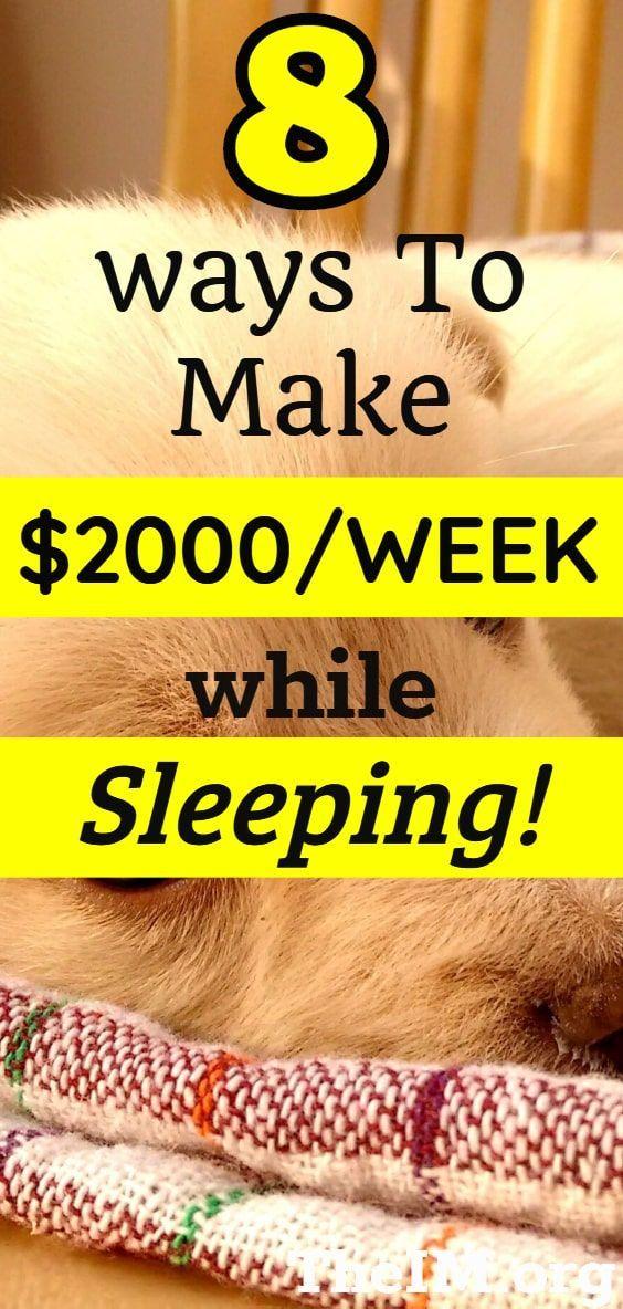 8 Legit Ways To Make Money While Sleeping! 8 worth…