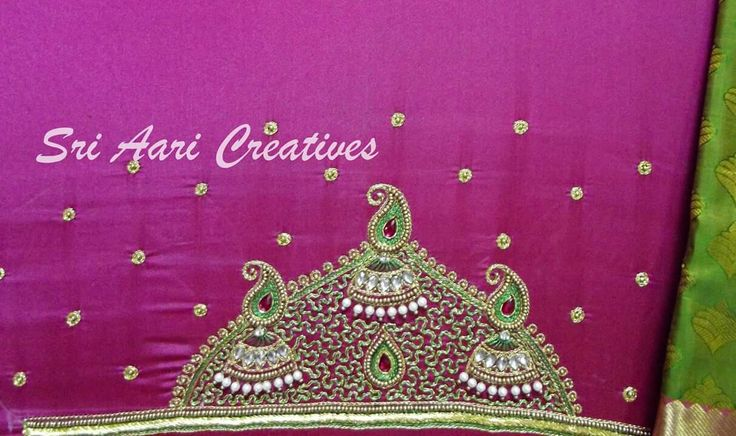 Bridal designer work - Contact ; Sri Aari Creatives : 9842995293