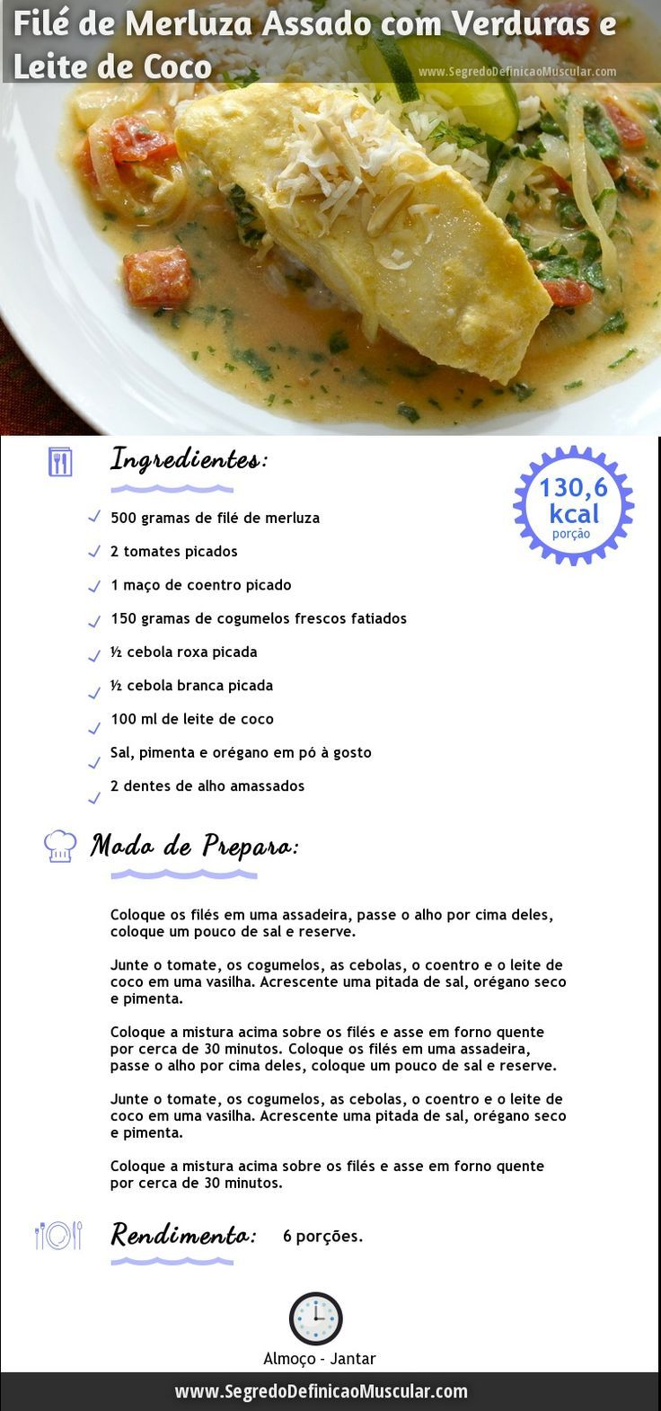 Filé de Merluza Assado Para Sua dieta ~> http://www.segredodefinicaomuscular.com/file-de-merluza-assado-para-sua-reeducacao-alimentar #Saudavel