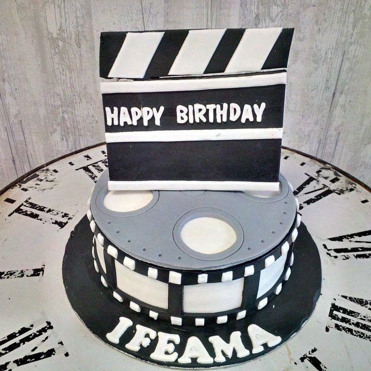 Creative and inspiring, film fanatic cake