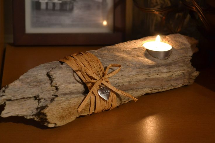 Driftwood Tea Lights