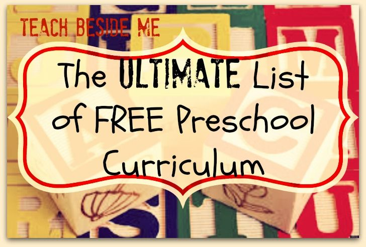 The Ultimate List of Free Preschool Curriculum