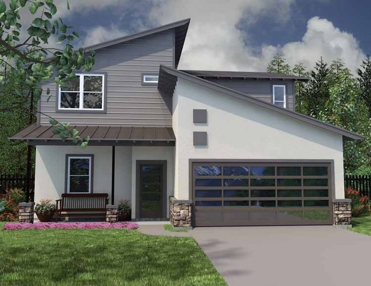 eplans contemporary modern house plan cool and compact 2090 square feet and 3