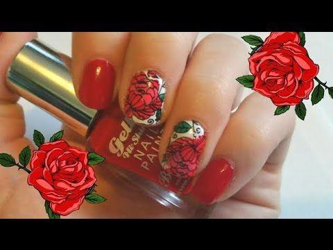 2015 Autumn/Fall Rose Nail Art - MoYou London - Advanced Nail Stamping f...