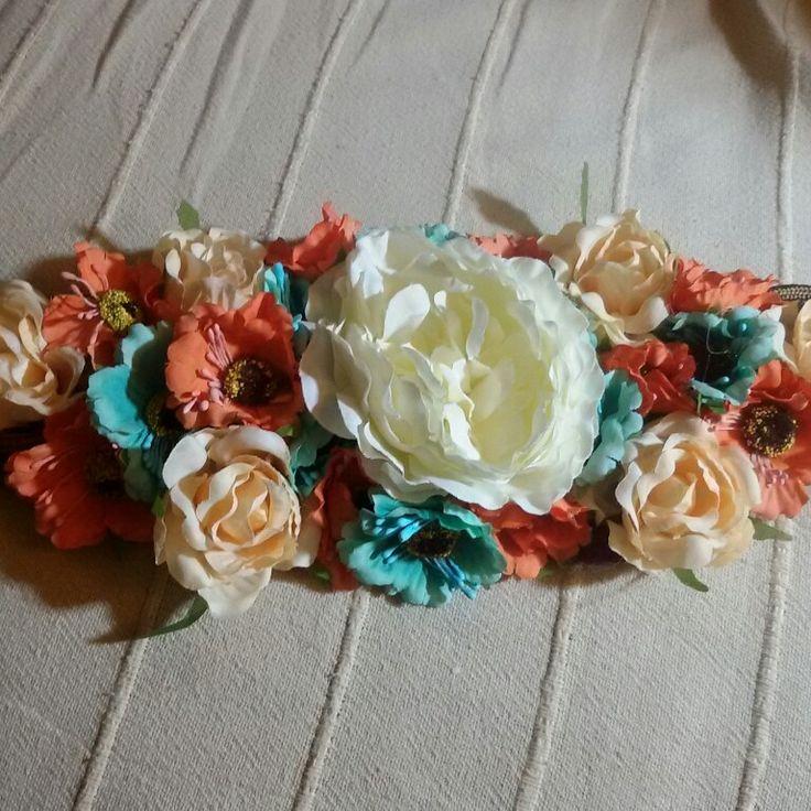 Cinturón -hombrera de flores
