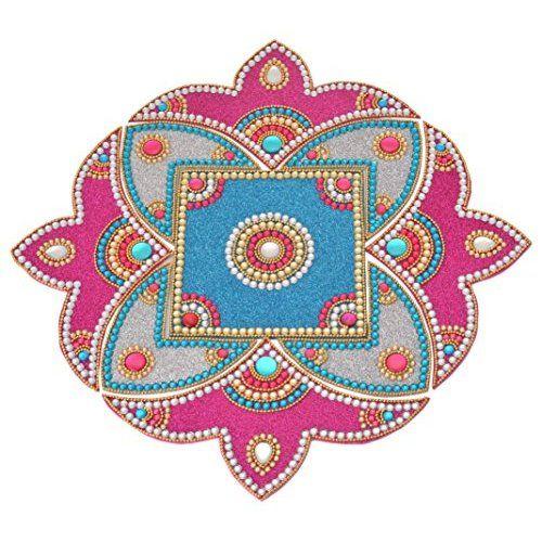 Rangoli - Unique Arts Double Carry Acrylic Rangoli for Diwali - AR215