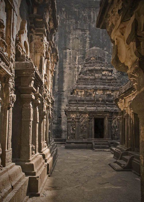 1,200-year-old Kailashnath Temple in Maharashtra, India