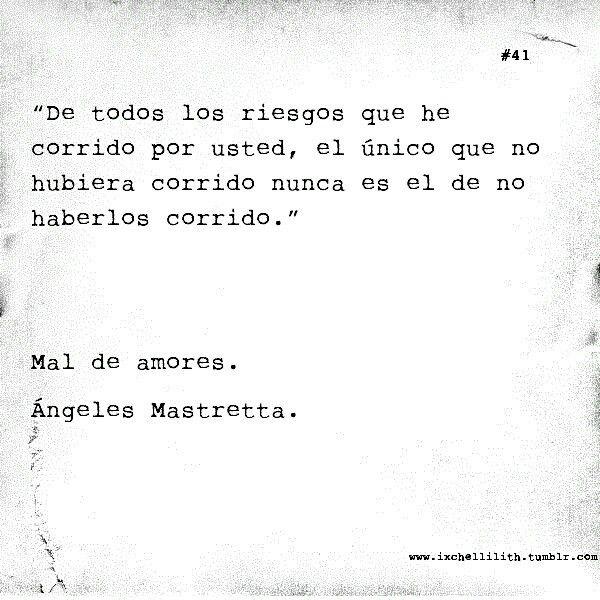 mal de amores...