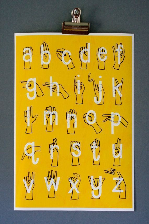 American Sign Language ( ASL ) Alphabet Poster #signlanguageposter