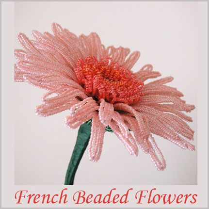 instructions making french beaded flowers
