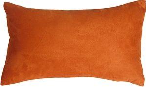 12x20 Royal Suede Burnt Orange Throw Pillow