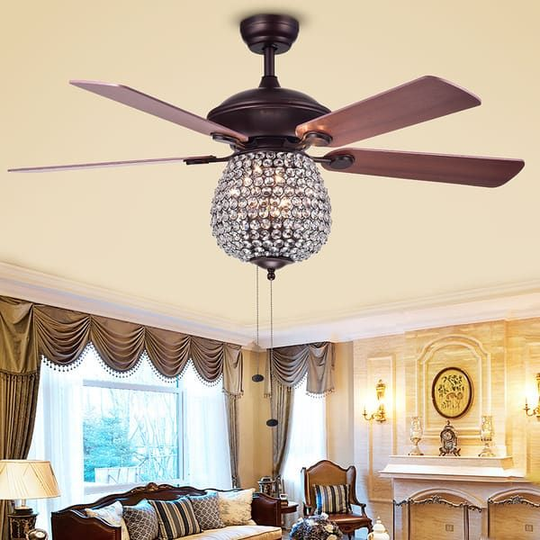 Charla 4 Light Crystal 5 Blade 52 H Chandelier Ceiling Fan Free