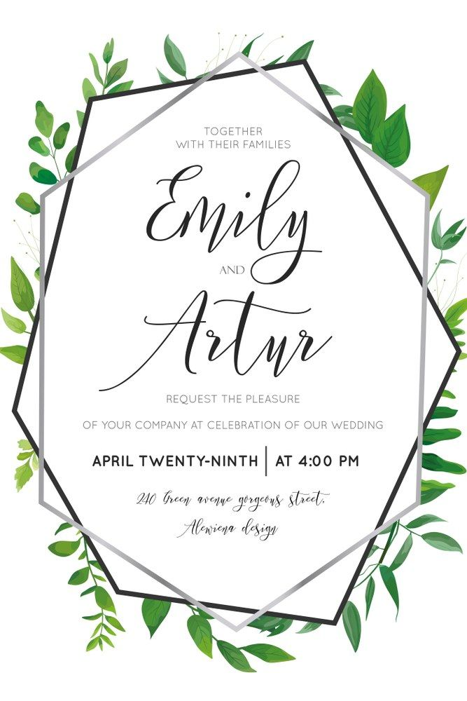 Wedding Floral Watercolor Style Botanical Invite Invitation Save The Date Card Design With Forest Gre Floral Wedding Wedding Invitations Botanical Invitations