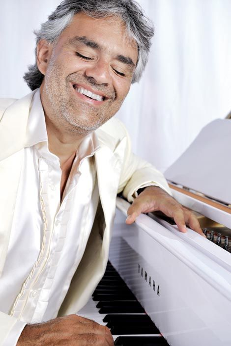 Andrea Bocelli ... this man makes me smile in my soul