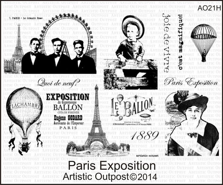 Stamps - Artistic Outpost Paris Exposition