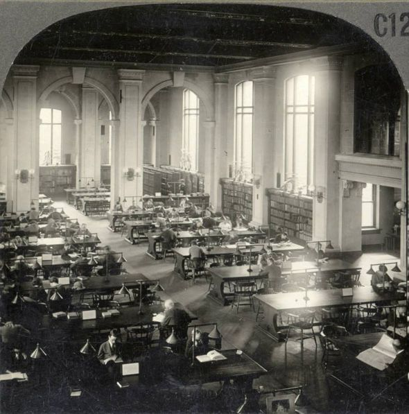 Central Library Toronto, 1923.  Now the Koffler Student Centre at University of Toronto.